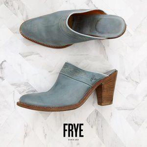 FRYE Western Blue Mules 7.5M